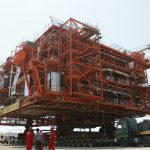 3rd South Pars platform loaded to be installed on offshore spot